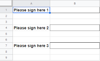 Template sheet with signatures to copy to other files