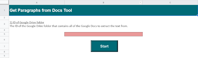 Provide a Google Folder ID to extract text from Docs